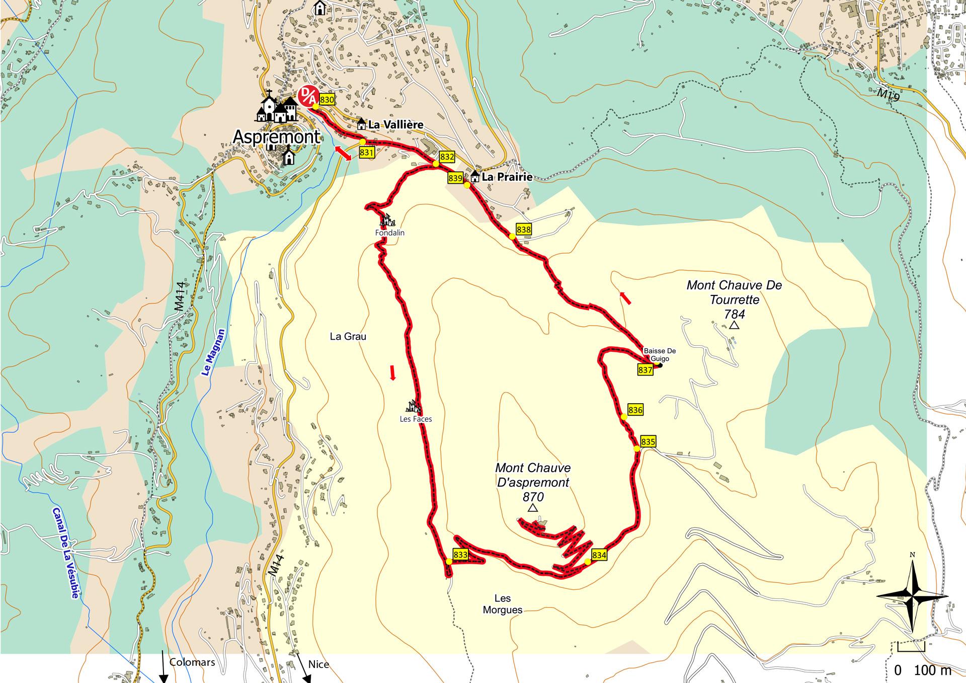Tour Du Mont Chauve D 233 Partement Des Alpes Maritimes