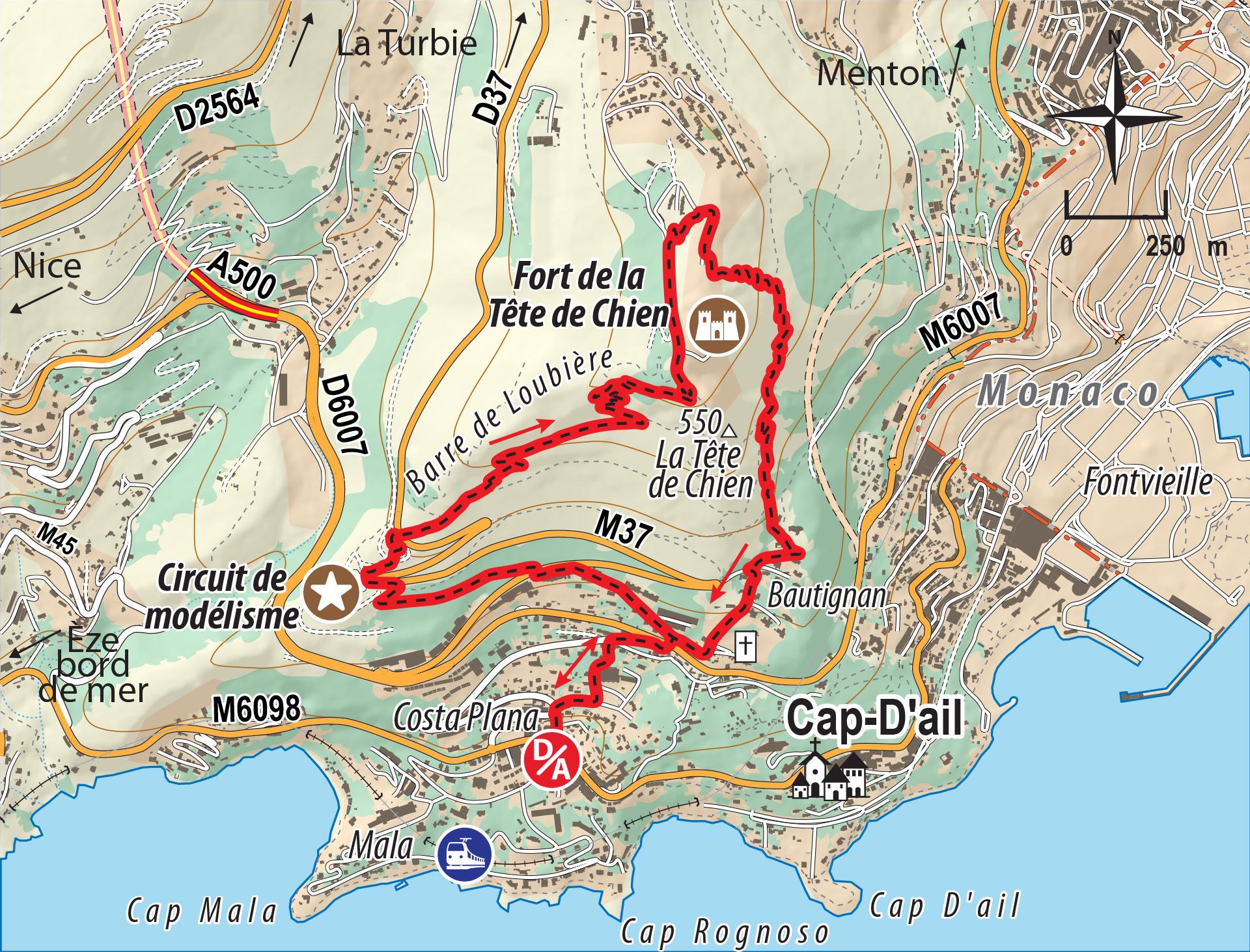 Tour De La T 234 Te De Chien D 233 Partement Des Alpes Maritimes