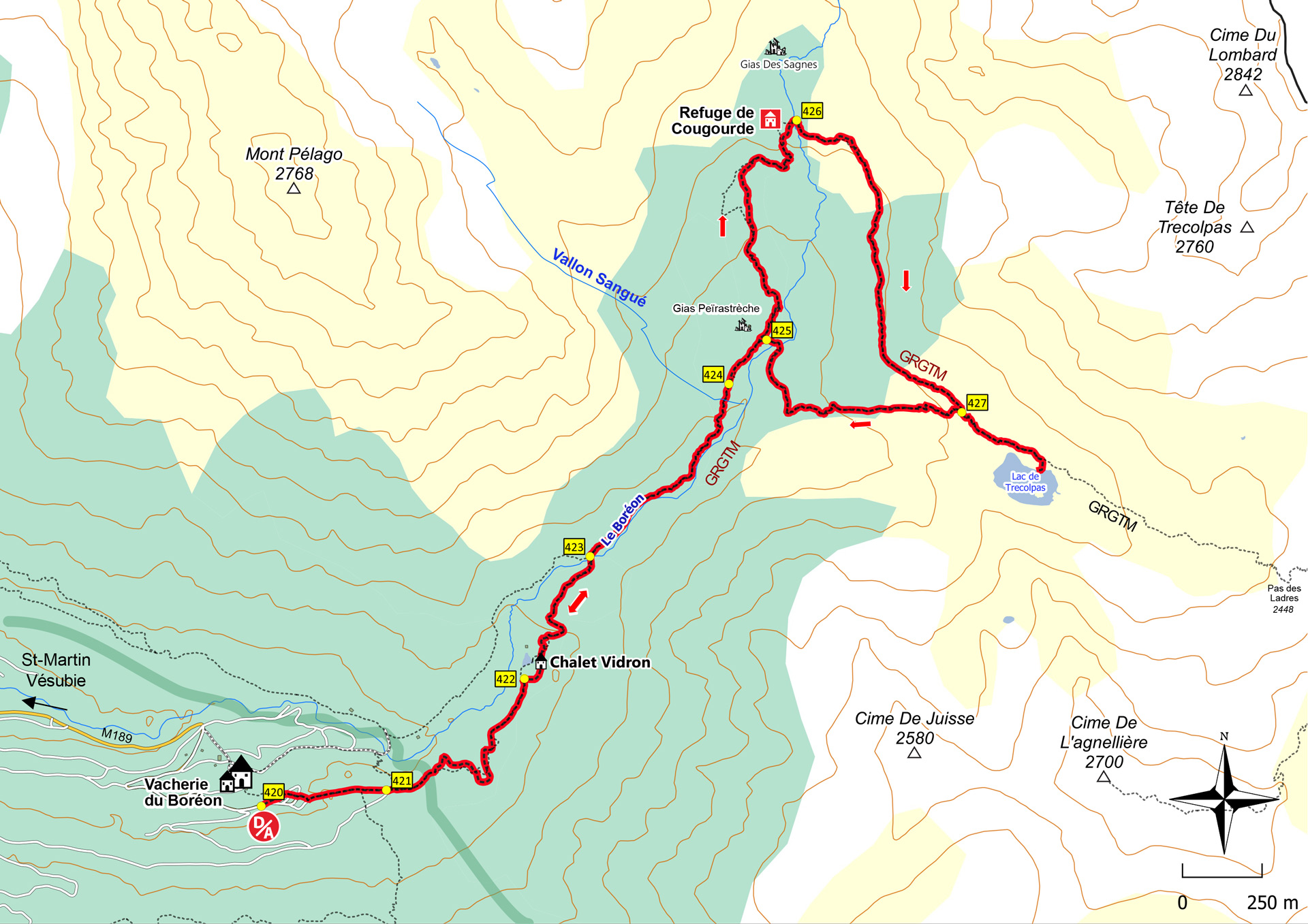 Circuit de Trécolpas - Département des Alpes-Maritimes